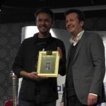 Joe Fischler und Benedikt Föger vom HVB - Übergabe des Goldenen Buchs für Veilchens Winter